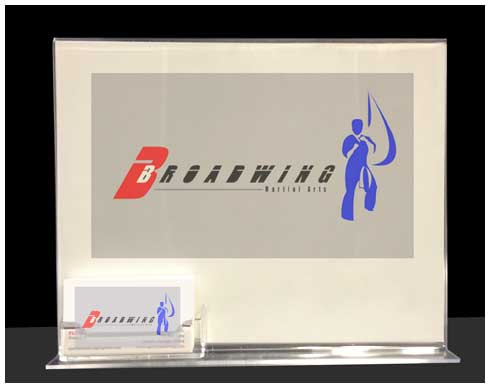 Acrylic Logo Business Card Holder