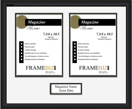 Double Page Magazine Frame Frame For 2 Pages From A