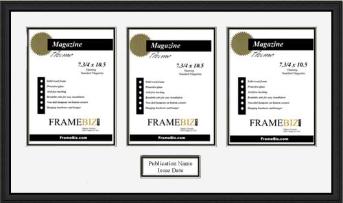Triple Page Magazine Frame Frame For 3 Pages From A