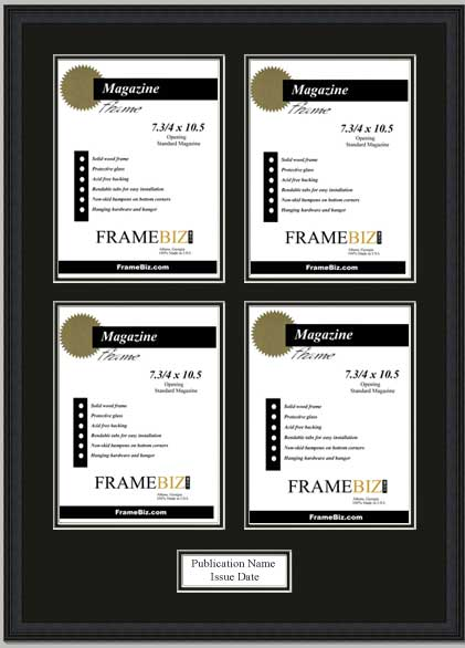 Quadruple Page Magazine Frame Frame To Hold 4 Pages From A