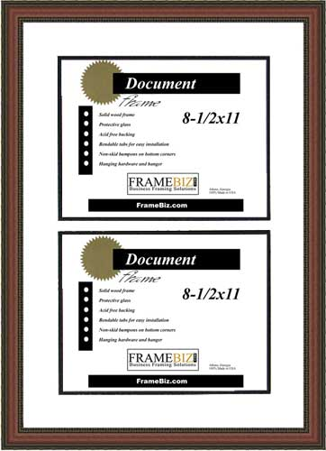 Windsor Series Double Certificate Frame