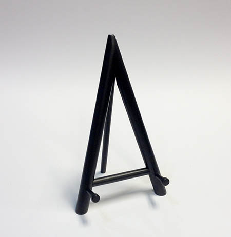 "8"" - A Shaped Black Easel"