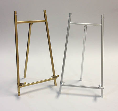 "9"" Brass or Silver Easel"