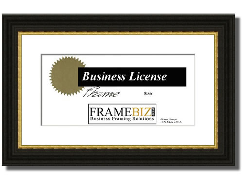 traditional with gold license frame