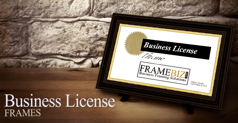 Business License Frames