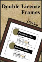 Double License Frame
