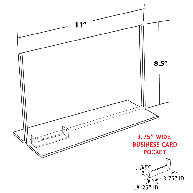 Double Sided Acrylic with Business Card Holder